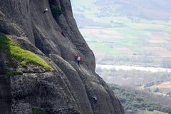 Bergsteigen in Kastraki Stockfoto