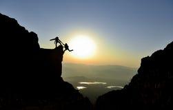 Bergsteigen und kletternde Tätigkeiten stockfotografie