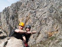 Bergsteiger auf die Oberseite Lizenzfreie Stockfotografie