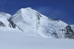Bergsteiger auf Fußrolle Stockfoto