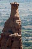 Bergsteiger auf Unabhängigkeit-Denkmal Stockbild