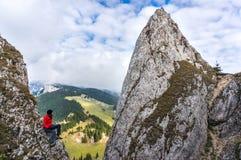Bergsteiger der jungen Frau Lizenzfreies Stockfoto