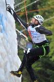 Bergsteiger, der von Fall IWC Busteni sich erholt Stockfotografie