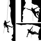 Bergsteiger in Felsen 02 vektor abbildung