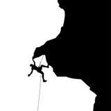 Bergsteiger in Felsen 03 lizenzfreie abbildung