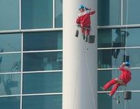 Bergsteiger - Fensterreinigungsmittel Stockbild