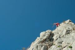 Bergsteiger im Himmel Lizenzfreies Stockfoto