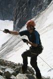 Bergsteiger im Zunehmen Lizenzfreie Stockbilder