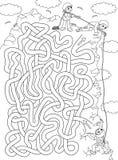 Bergsteiger - Labyrinth für Kinder lizenzfreie abbildung