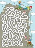 Bergsteiger - Labyrinth stark lizenzfreie abbildung