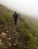 Bergsteiger zu ` Astú Pic d Stockfotografie