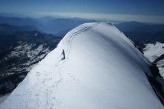 Bergsteigerfrauen Stockfotografie