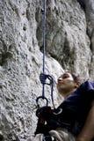 Bergsteigerstillstehen Lizenzfreie Stockfotos