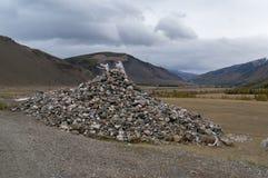 Bergstenen in Mongolië Stock Fotografie