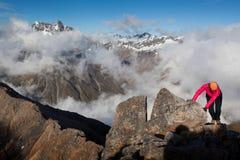Bergstigning Fotografering för Bildbyråer