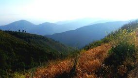 Bergstoppsikt Royaltyfri Bild