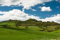 Bergstoppstad, Tuscany Royaltyfri Fotografi