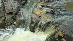 Bergström mellan stenar lilla forar lager videofilmer
