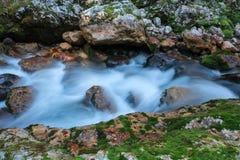 Bergstroom in de Lepena-vallei Royalty-vrije Stock Afbeeldingen