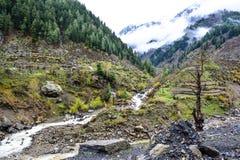 Bergstroom in de Vallei van Naran Kaghan, Pakistan Stock Afbeeldingen