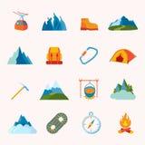 Bergsymboler sänker Arkivfoton