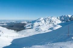 bergtatravinter Fotografering för Bildbyråer