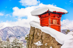 Bergtempel Japan stock afbeeldingen