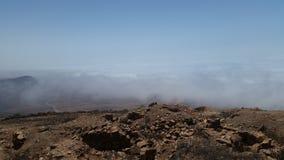 Bergtop: een overweldigende bekleding stock afbeelding
