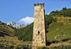 Bergtorn i Svaneti, Georgia Royaltyfria Bilder