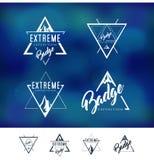 Bergtriangel Logo Badge royaltyfri illustrationer