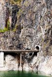 bergtunnel Royaltyfria Foton