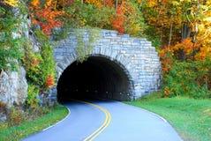 bergtunnel Arkivfoton
