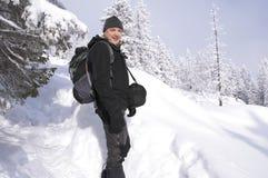 Bergturist Fotografering för Bildbyråer