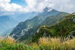Berguitgestrektheden Sotchi Stock Foto's