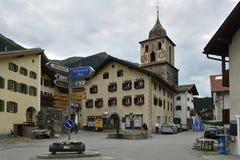 Bergun, cantone di Graubunden, Svizzera Fotografie Stock Libere da Diritti