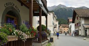Bergun, regione del distretto di Albula, Svizzera Immagini Stock