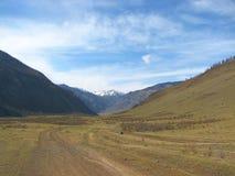 bergväg Arkivfoto