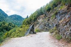 Bergväg i Abchazien Fotografering för Bildbyråer