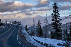 Bergväg i Coloraod Arkivbild