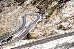 Bergväg i vinter Royaltyfri Fotografi