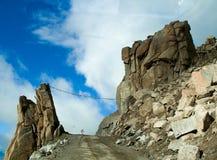 Bergväg, Ladakh, Indien Royaltyfria Foton