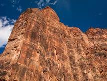 Bergväggar i Zion National Park Arkivfoto