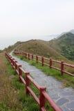bergvägsjösida Arkivfoton