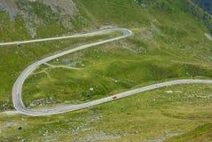 bergvägspolning Arkivbilder