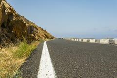 Bergvägtur på Fuerteventura Fotografering för Bildbyråer