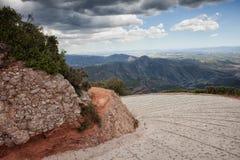 Bergvägvänd Arkivfoto