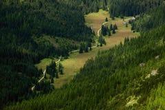 Bergvallei Stock Afbeeldingen