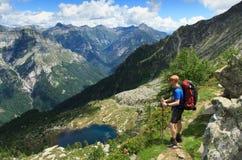 Bergvandring Royaltyfria Bilder
