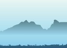 bergvektor stock illustrationer