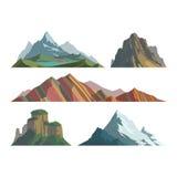 Bergvektorillustration vektor illustrationer